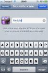 """Donnez un nom à la future application. Attendez un petit peu pour avoir la belle icône de """"Me Mid"""" !"""